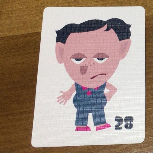 似顔絵探偵ガール 女の子カード