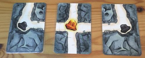 【お邪魔者】3枚のゴールカードの表面