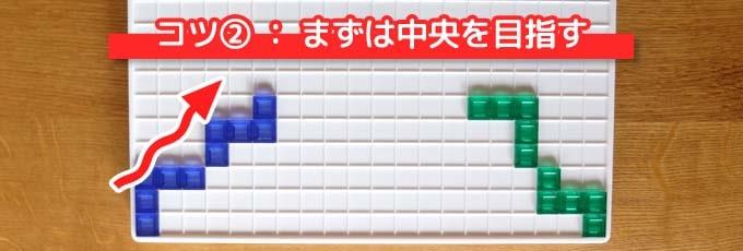 ブロックスで勝つための戦略・コツ②『まずは中央を目指す』