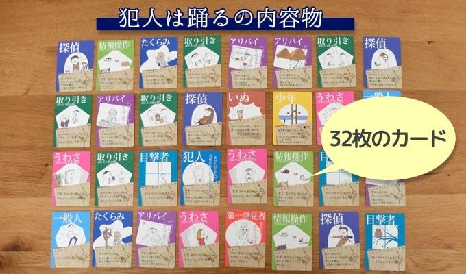 犯人は踊るの内容物「32枚のカード」