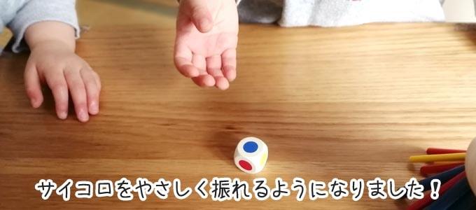 スティッキーを2歳5ヵ月の子供が遊ぶ「サイコロを優しく振れるようになった」