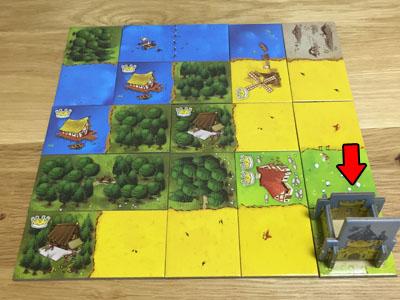キングドミノ:お城は中央でなくてもいい