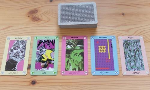 モダンアートで使用する「絵画カード」