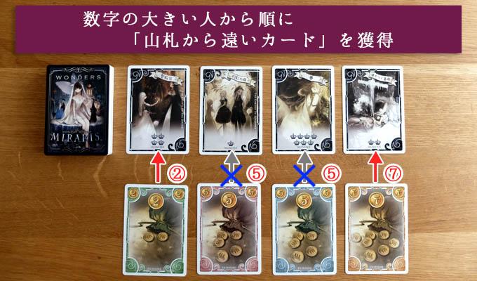 ミラリス(MIRARIS)のルール②『得点カードを獲得する』