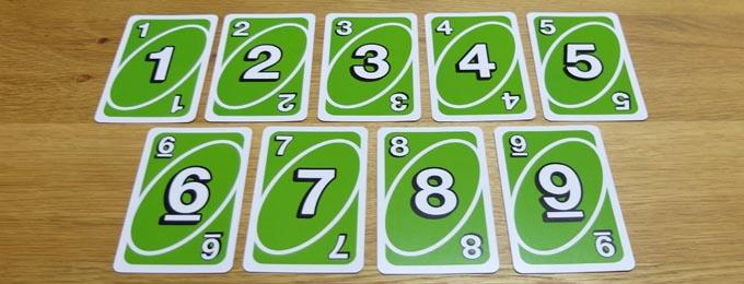 UNO(ウノ)のカードの種類『数字カード』
