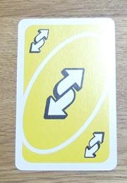 UNO(ウノ)のカードの種類『リバース』