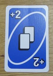 UNO(ウノ)のカードの種類『ドロー2』