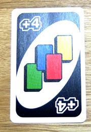 UNO(ウノ)のカードの種類『ワイルド ドロー4』