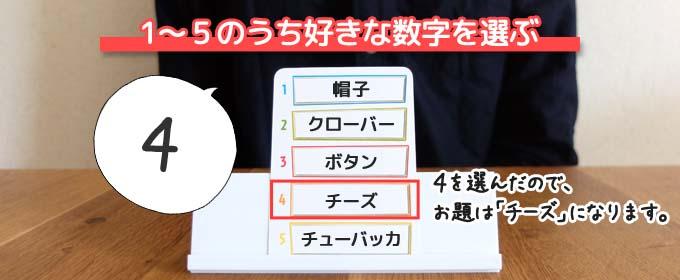 ボードゲーム『ジャストワン(JUSTONE)』のルール:解答役は1~5のうち好きな数字を選ぶ