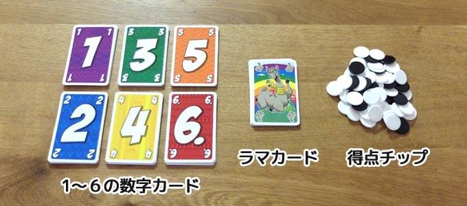 カードゲーム『ラマ(lama)』に入っているもの