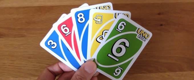 ウノフリップ:フリップカードで手札を反転させる