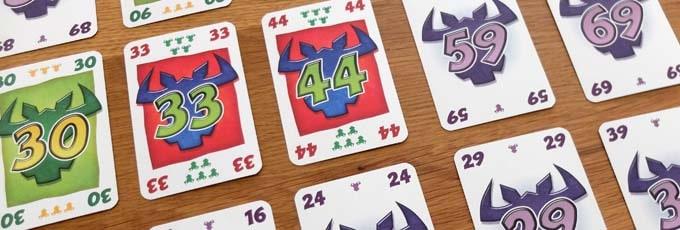 カードを4つの列に置いていく|ニムト