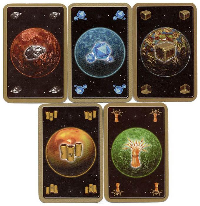 宇宙カタンで手に入る資源「燃料、鉱石、炭素、交易商品、食べ物」