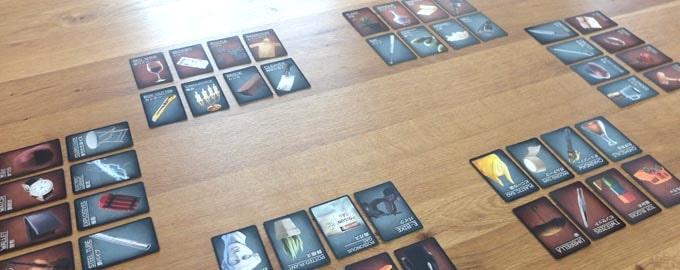 ディセプションの準備:カードはみんなが見やすいように並べる