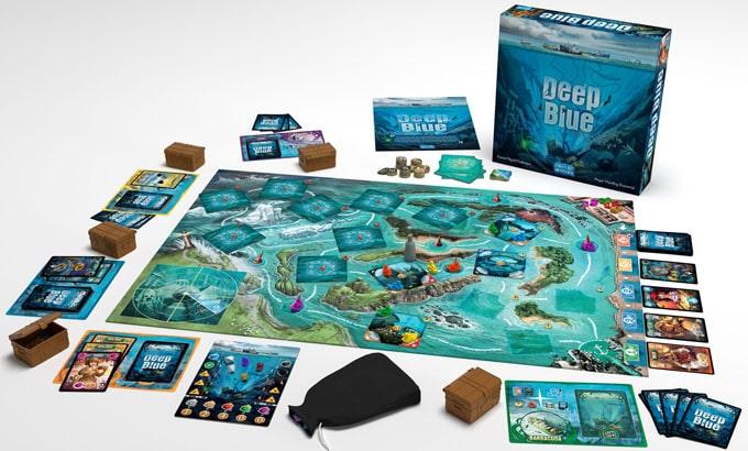 ボードゲームのディープブルー「様々な船員の能力を使ってたくさんの財宝を手に入れることを目指す」