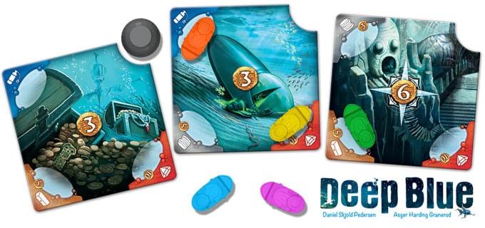 ボードゲーム『ディープブルー』の沈没船タイル