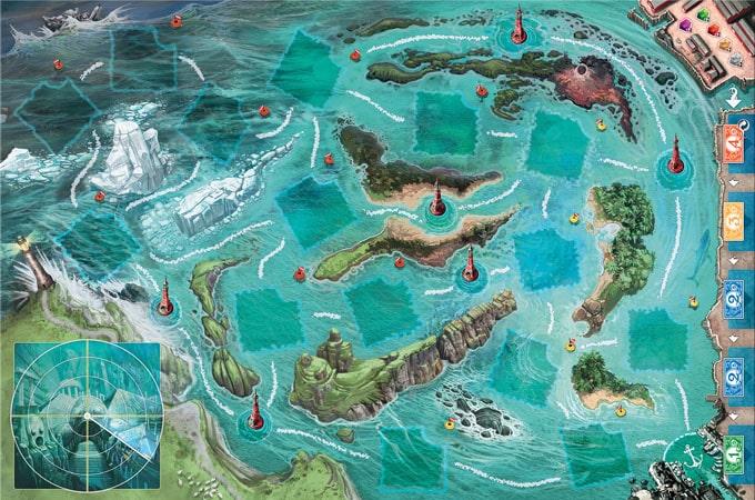 ボードゲーム『ディープ・ブルー』の海ボード