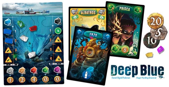 ボードゲーム『ディープ・ブルー』の船員カード