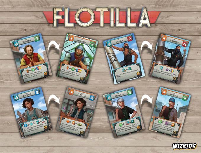 ボードゲーム『フローティラ/Flotilla』:モードチェンジすると乗組員の役職も変わる