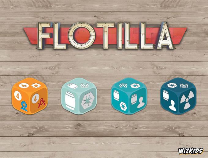 ボードゲーム『フローティラ(Flotilla)』のダイス