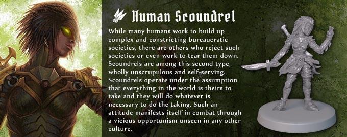 グルームヘイヴンの種族『人間のスカウンダレル』
