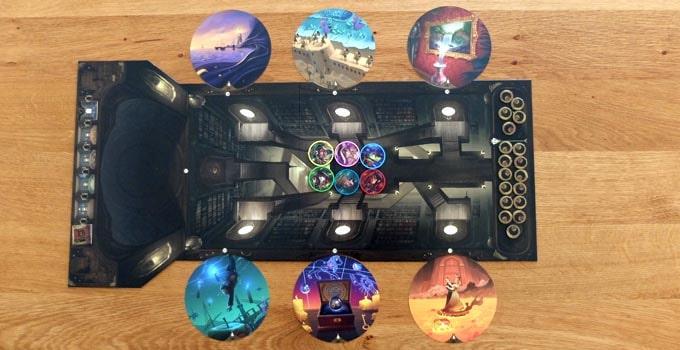 オブスクリオ:6枚のカードを場に並べる