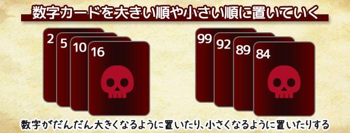 ザ・ゲーム(THE GAME)は「数字カードを大きい順や小さい順に置いていく」協力系カードゲーム