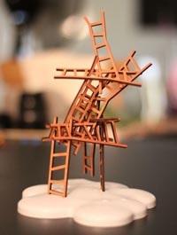 キャッチ・ザ・ムーンは「梯子を掛けていきお月様を捕まえよう」というフランス産のバランス系ボードゲーム