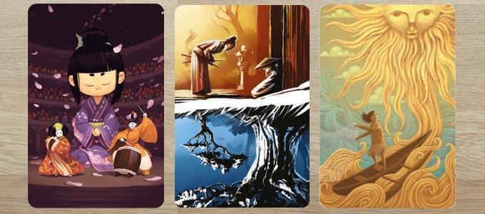 ディクシット拡張『アニバーサリー』のカードは、9人のイラストレーターが描いている