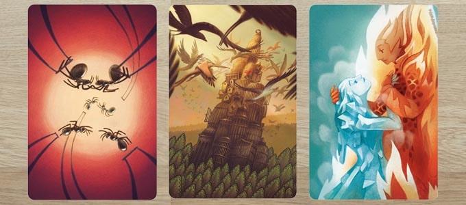 ディクシット拡張『ハーモニー』のカードは「薄暗い」印象