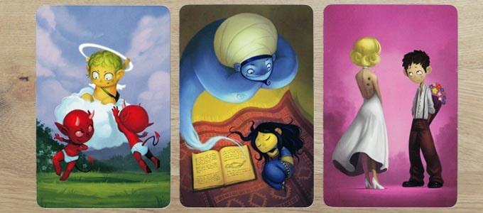ディクシット拡張『ジャーニー』のカードは、綺麗で幻想的な絵柄