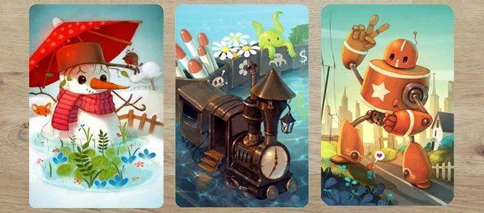 絵が綺麗なボードゲーム『ディクシット:メモリーズ』のカード