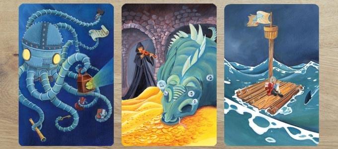 ディクシット拡張『オデッセイ』の絵柄は、基本セットの延長という印象