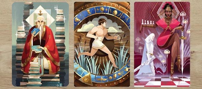 ディクシット拡張『レヴェレイション』のカードは、独特な画風でお洒落