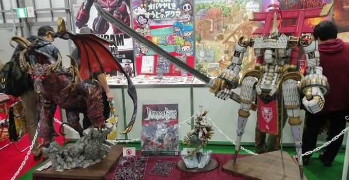 ゲームマーケット2019秋にあったドラゴンギアスの巨大なフィギュア
