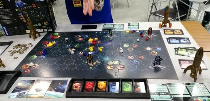 ゲームマーケット2019秋:ジーピーでは『カタン :宇宙開拓者版』の説明があった