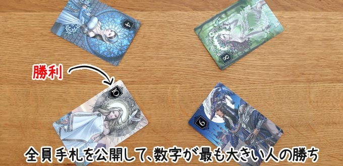 XENOのルール:山札がなくなったら「カードの強さ」で勝負