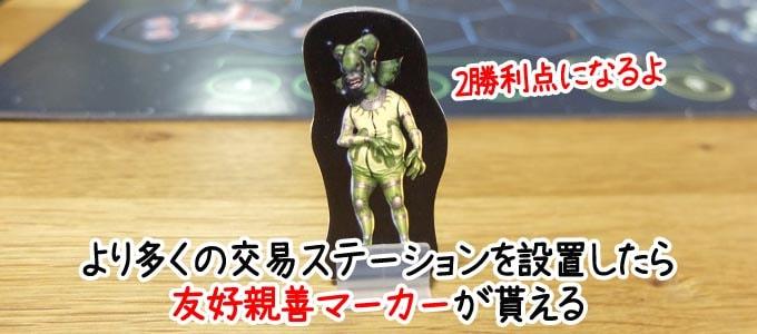 カタン宇宙開拓者版の友好親善マーカー