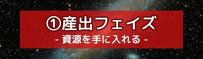 宇宙カタン:産出フェイズ