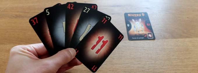 ザ・マインド エクストリーム:現在のレベルと同じ数のカードを引く