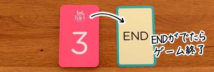 キャット&チョコレート日常編:ENDカードが出たらゲーム終了