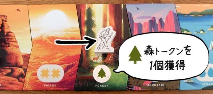 森トークンを1個獲得|PARKS(パークス)
