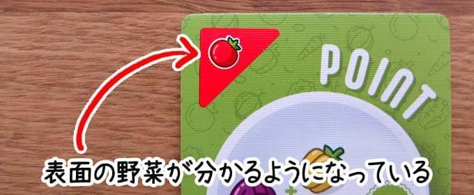 カードの表面の野菜が分かる|ポイントサラダ(Point Salad)