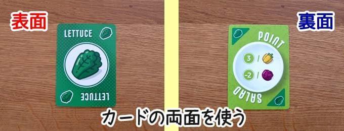 カードの両面を使用する|ポイントサラダ(Point Salad)