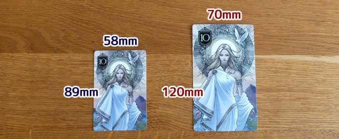 XENO豪華版・通常版のカードサイズ