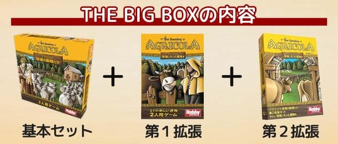 アグリコラ 牧場の動物たち THE BIG BOXの内容