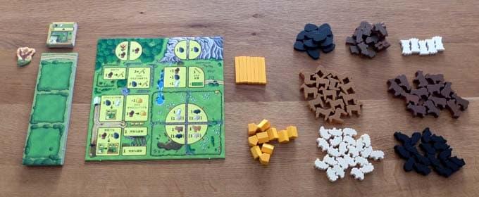 ゲームボードを中央に置く|アグリコラ 牧場の動物たち