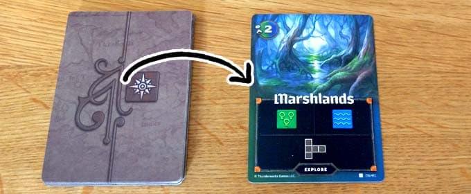 探索カードをめくる|カートグラファーズ(Cartographers)