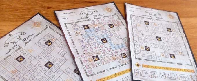 マップシート|カートグラファーズ(Cartographers a Roll Player Tale)