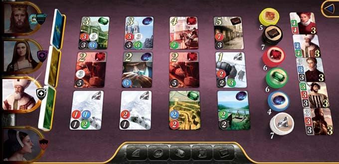 ゲーム画面|宝石の煌き(Splendor)アプリ